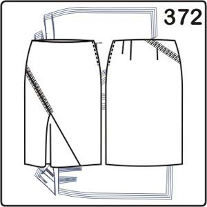 выкройка прямой юбки с фигурной вставкой