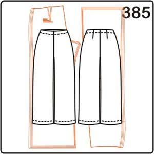 выкройка женских брюк с заниженной талией