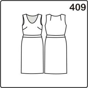 выкройка летнего платья с воланом на талии