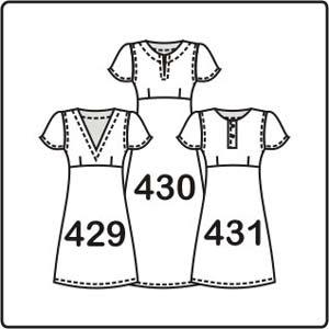 3 выкройки платьев по одной основе