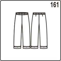 бесплатная выкройка летних брюк с манжетами длиной 3/4