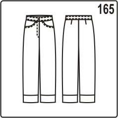 бесплатная выкройка летних женских укорочекнных брюк в джинсовом стиле