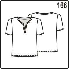бесплатная выкройка лёгкой блузки из шифона или трикотажа