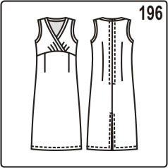 бесплатная выкройка длинного платья с отрезным лифом с запахом