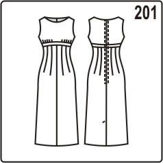 бесплатная выкройка приталенного платья с отрезным лифом