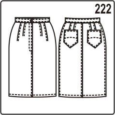 бесплатная выкройка узкой юбки с накладными карманами
