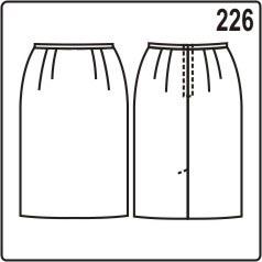 бесплатная выкройка юбки прямого покроя