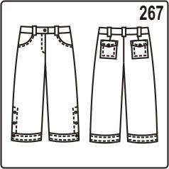 бесплатная выкройка укороченных женских джинсов с манжетами