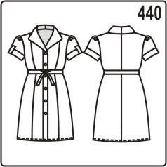 бесплатная выкройка длинной женской блузки с воротником апаш