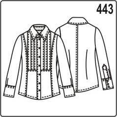 выкройка блузки с защипами на переде