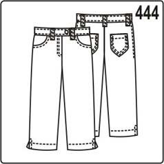 выкройка детских брюк в джинсовом стиле