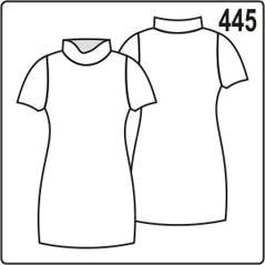 простое трикотажное платье с воротником и рукавами