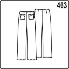 выкройка прямых брюк для девочки