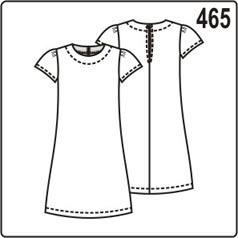 выкройка простого платья для девочки