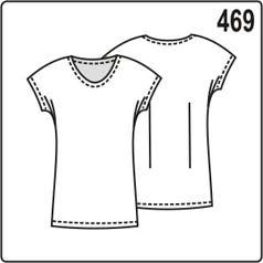 бесплатная выкройка женской блузки с цельнокроеными рукавами