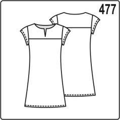 выкройка простого летнего платья для девочки 5-6 лет