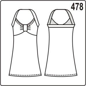 выкройка летнего платья на бретели