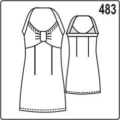 выкройка приталенного летнего платья