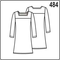 Выкройка детского платья с длинным рукавом