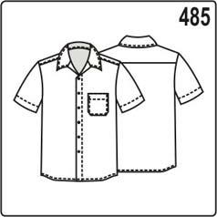 выкройка летней мужской рубашки с коротким рукавом