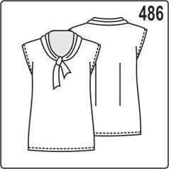 выкройка простой блузки с завязкой на шее