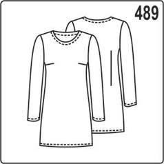 Выкройка платья с длинным втачным рукавом