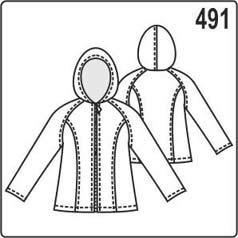 Выкройка куртки с рукавом реглан