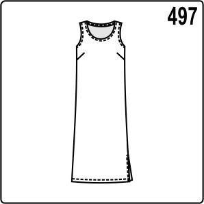 2af3a7d57ad Выкройка простого платья на бретелях для полных женщин - Porrivan