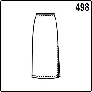 Выкройка длинной юбки на резинке