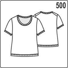 Выкройка блузки из трикотажа с окантовкой срезов