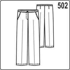 выкройка женских брюк классического покроя