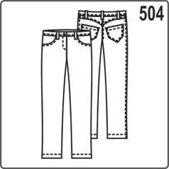 выкройка джинсов