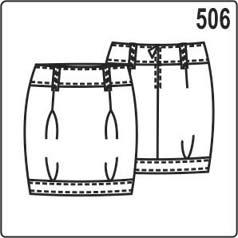 юбка тюльпан выкройка, построение на основе прямой юбки