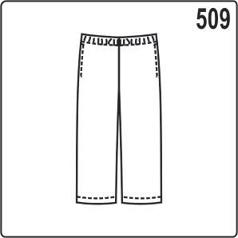 выкройка детских штанов на резинке, построение для трикотажа или флиса