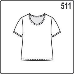 Выкройка простой блузки с короткими рукавами, кройка из трикотажа