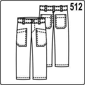 Выкройка детских брюк с большими накладными карманами, поясом, шлёвками, молнией спереди