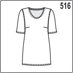Выкройка летней блузки с коротким рукавом