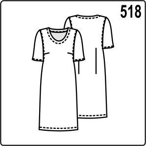 Простая выкройка платья с короткими рукавами