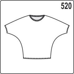 Выкройка блузки с коротким рукавом «летучая мышь»