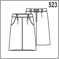 Выкройка юбки с складками на талии