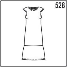 Выкройка платья с воланом, размеры 44-54