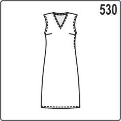Выкройка простого платья футляр без рукавов