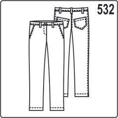 Выкройка зауженных брюк с карманами