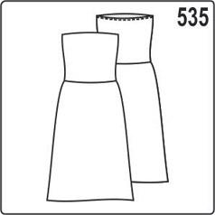 Выкройка простого летнего платья из трикотажа с отрезным лифом и юбкой
