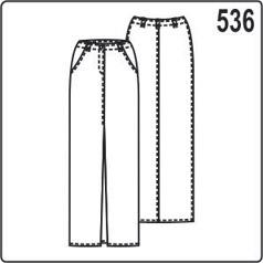 Выкройка юбки с встречной складкой на переде