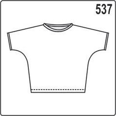 Выкройка блузки с цельнокроеным рукавом и свободным покроем