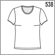 Простая выкройка женской футболки из трикотажа