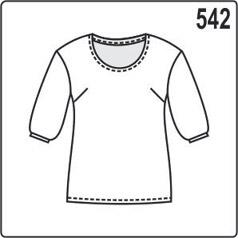 Выкройка блузки с рукавами с манжетами, размеры 46, 48, 50, 52