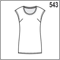 выкройка простой летней блузки из трикотажа