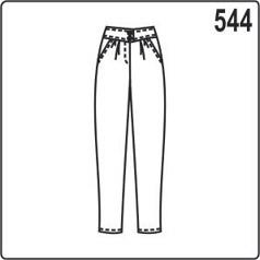бесплатная выкройка женских брюк чинос с поясом, молнией и карманами